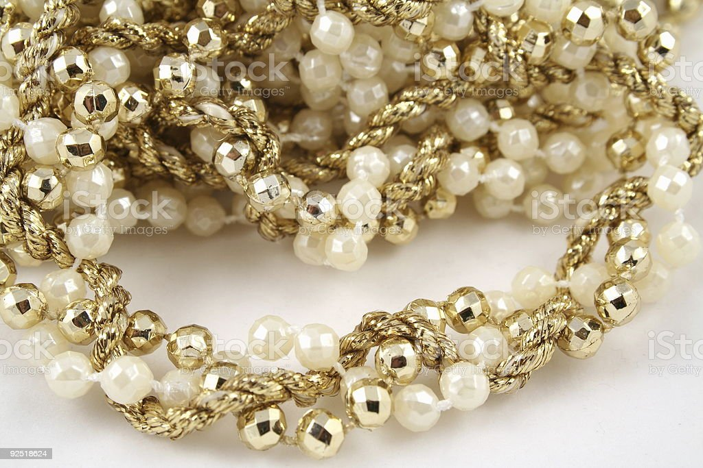 Pearls and Garland royalty-free stock photo