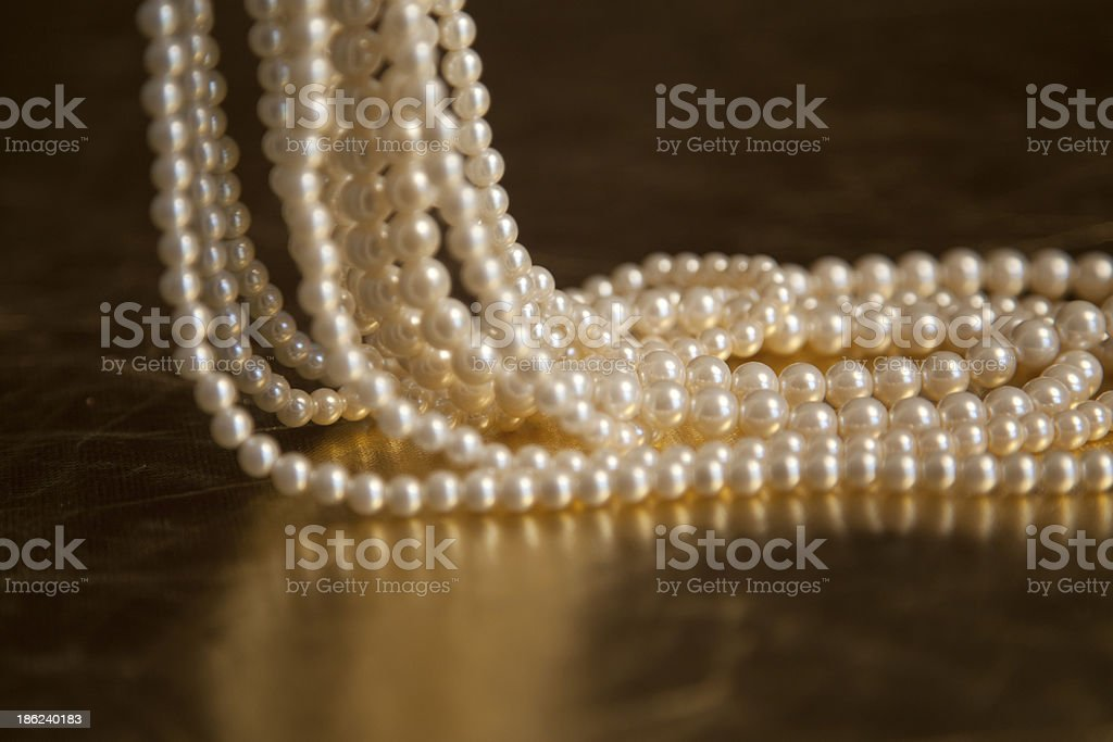 Pearls and necklace royalty-free stock photo