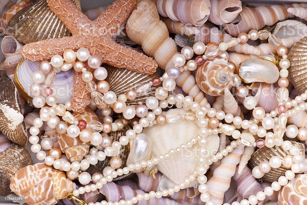 Pearls and Shells stock photo