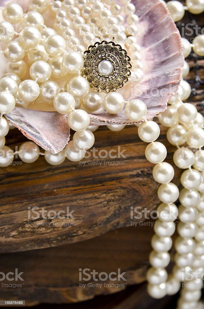 Pearls in shells royalty-free stock photo