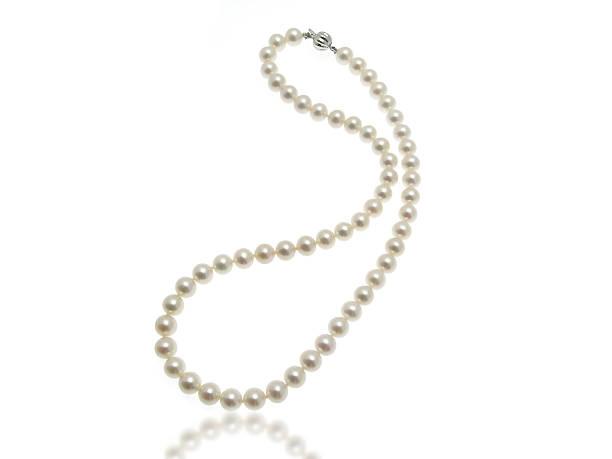 perlen-halskette - halskette weißgold stock-fotos und bilder