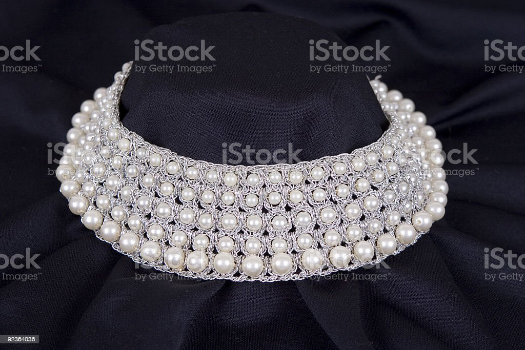 Pearls on Black royalty-free stock photo
