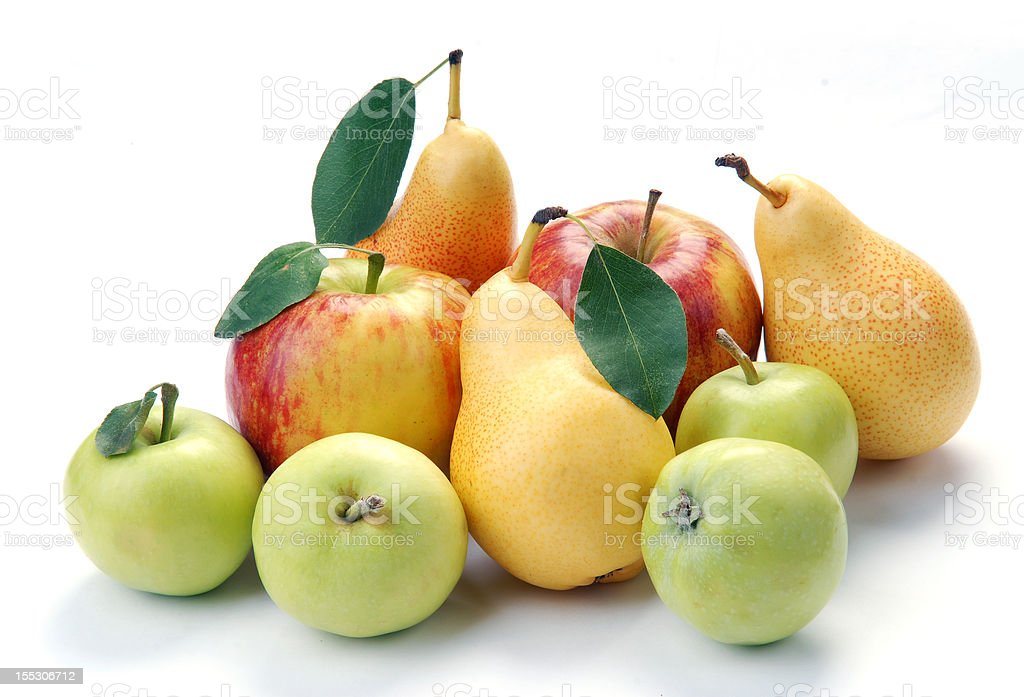 pears and apple stock photo