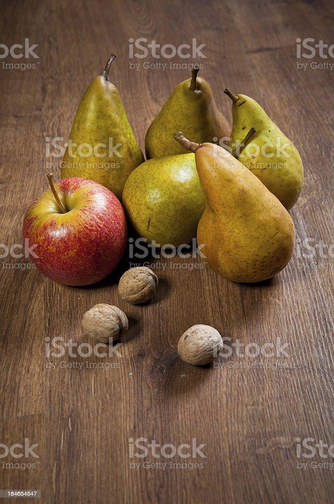 Gruszki i jabłka zbiór zdjęć royalty-free
