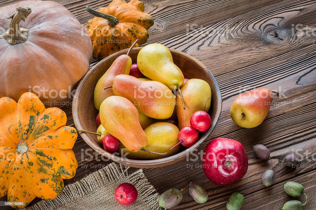 pears and red apples stock photo