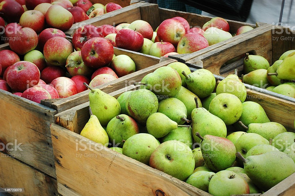 Pears & Apples stock photo