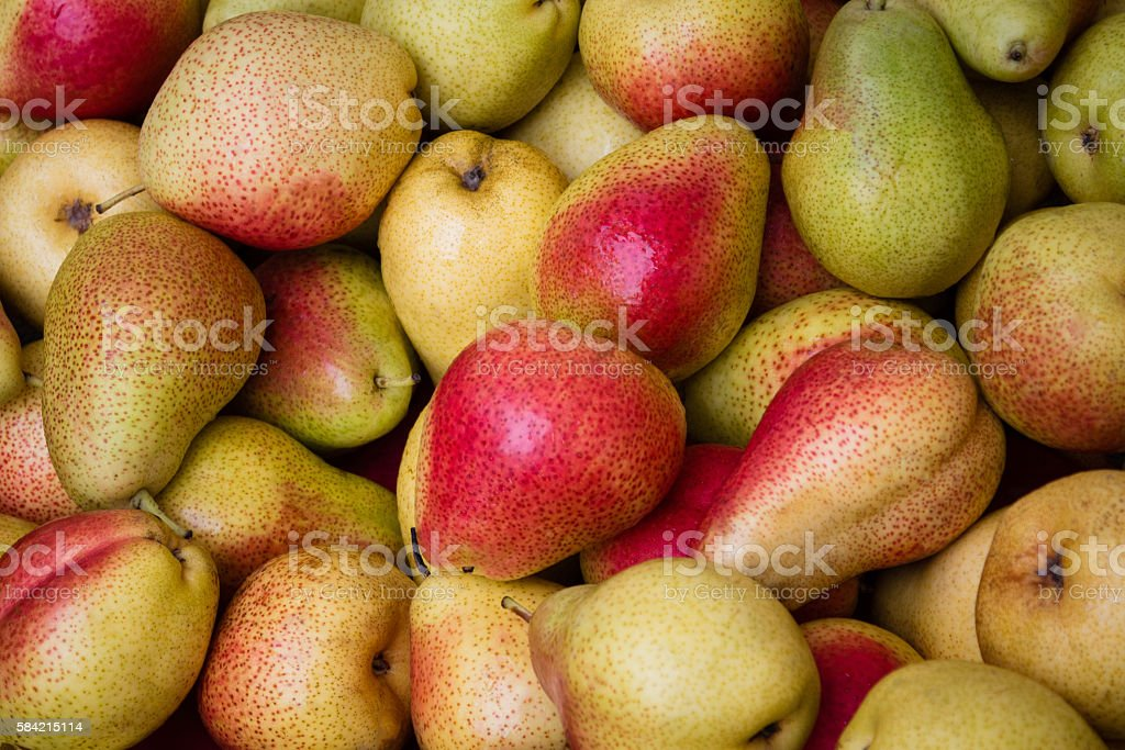 pears closeup - pear background stock photo