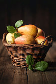 istock Pears in a basket 514613135