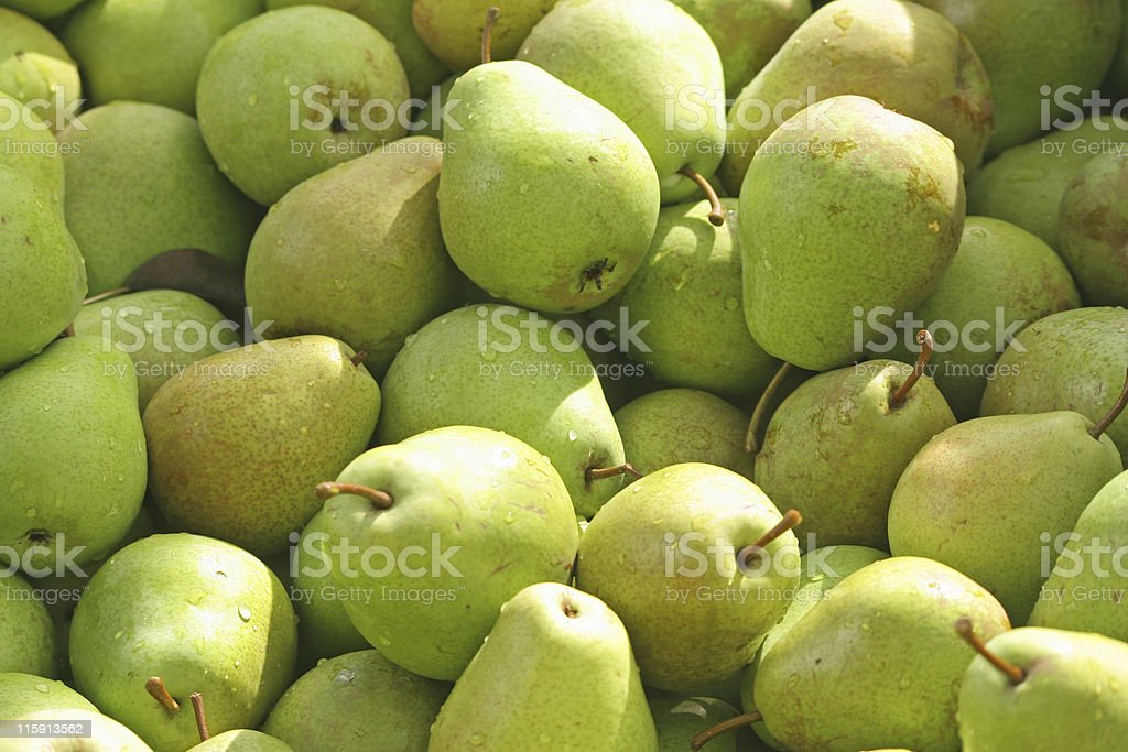 Pears in bin stock photo