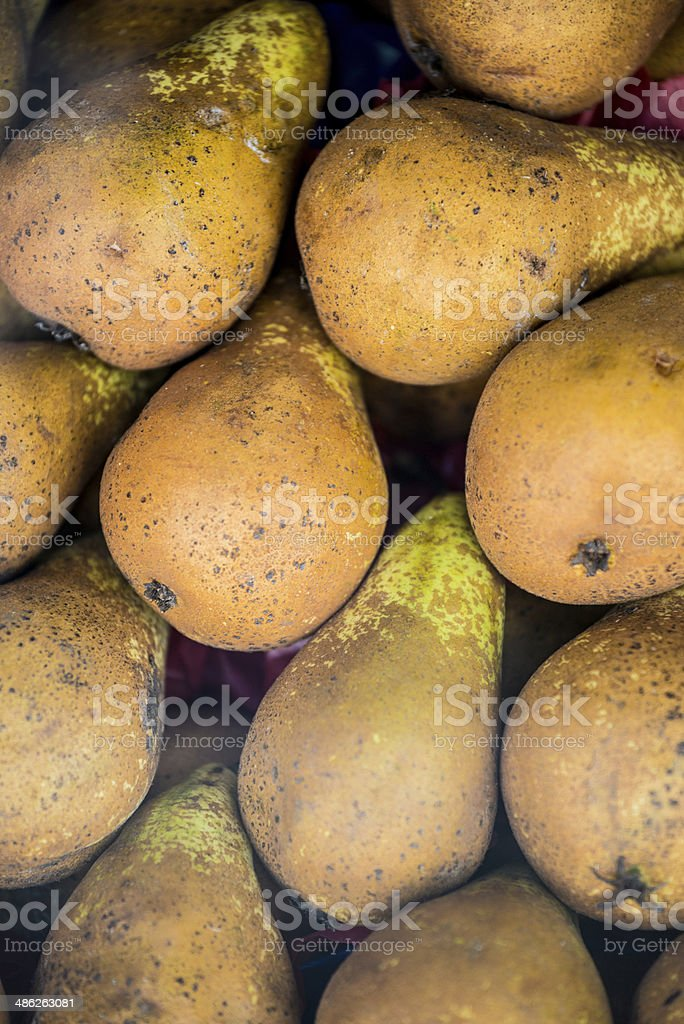 Pears in street market royalty-free stock photo
