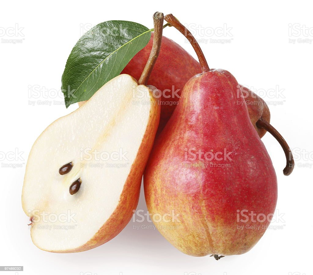 Pears on a white background royalty-free stock photo
