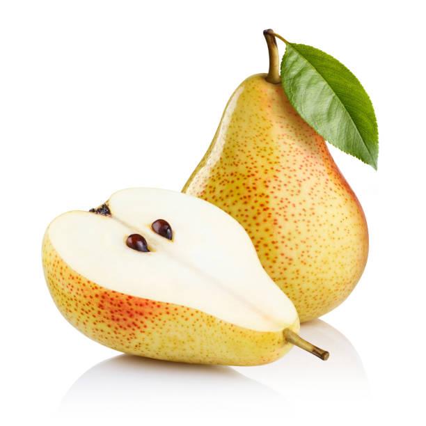 pears on white - pera foto e immagini stock