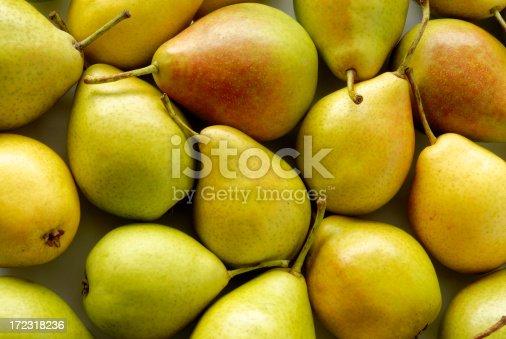 Heap of ripe sweet pears
