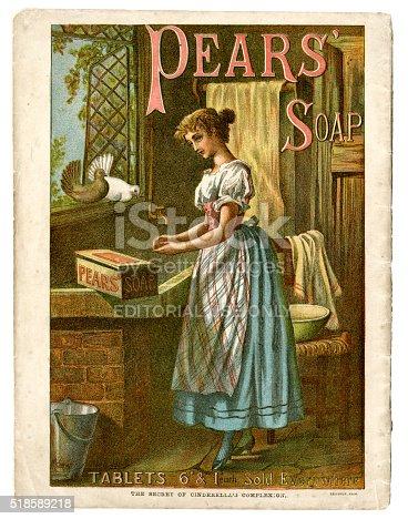 1070355804 istock photo Pear's Soap advertisement c1890 518589218