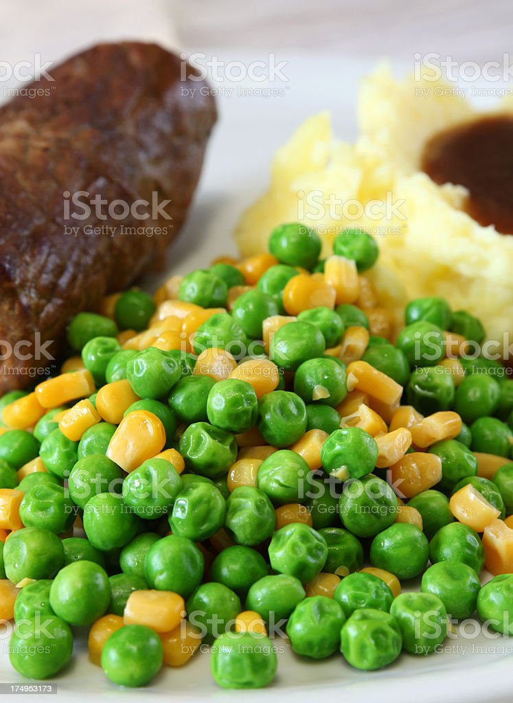 Peas and Corn royalty-free stock photo