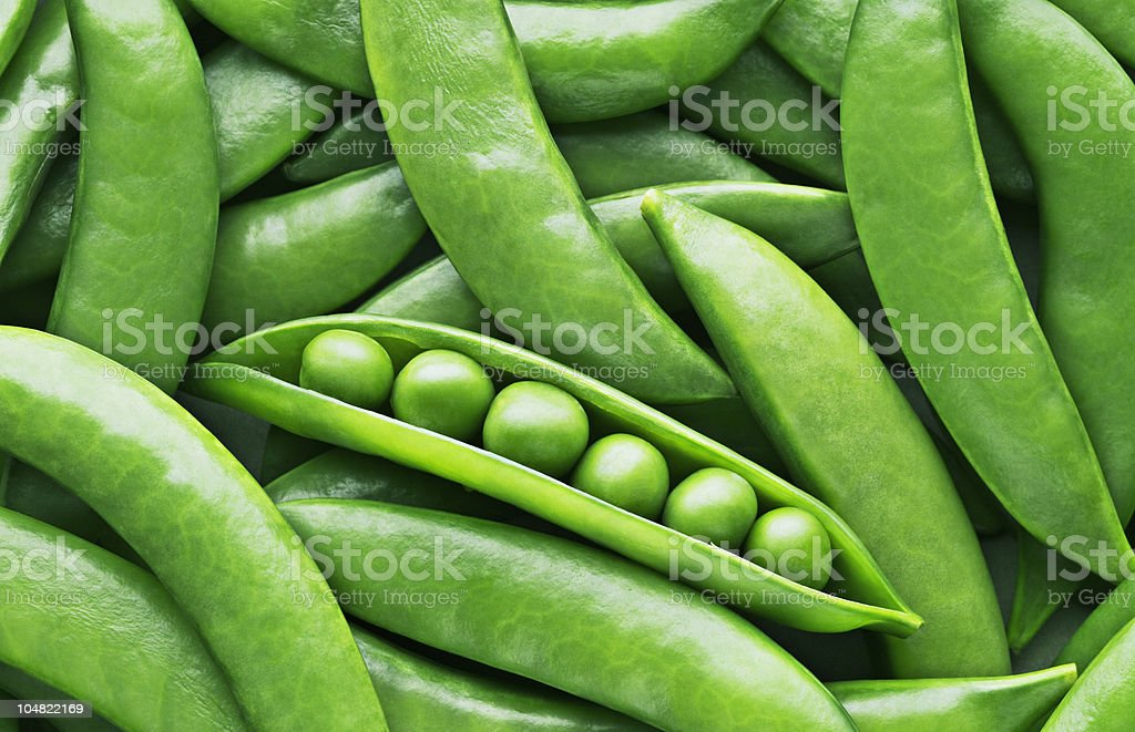 Peas and pea pods stock photo