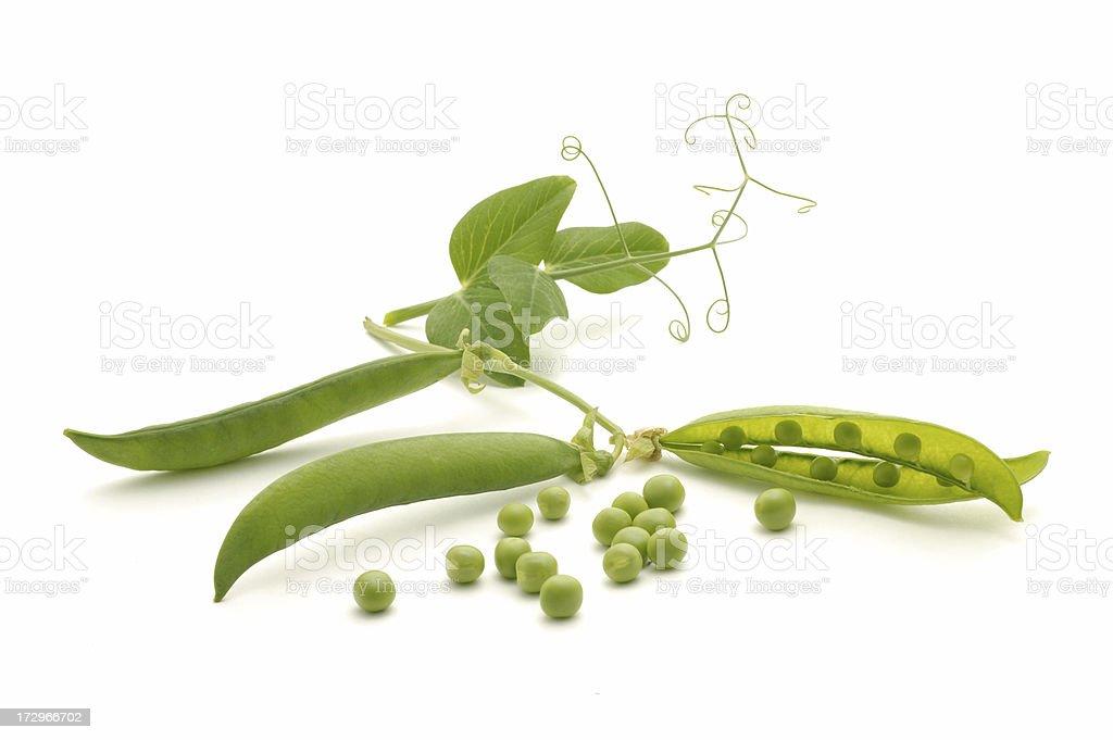 peas in pod royalty-free stock photo