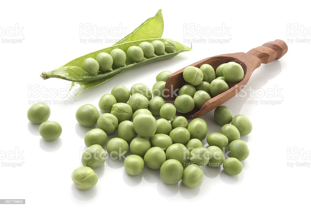 Peas in the Pod Isolated on White Background royalty-free stock photo