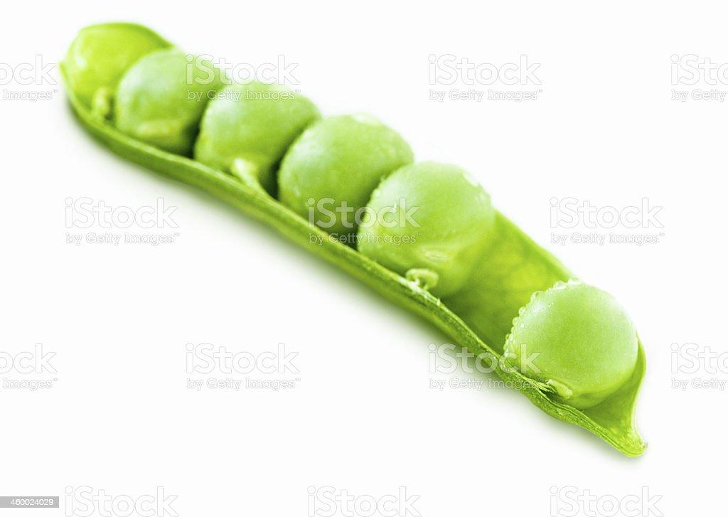 peas isolated on white royalty-free stock photo