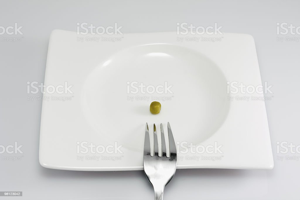 peas on a plate royalty-free stock photo