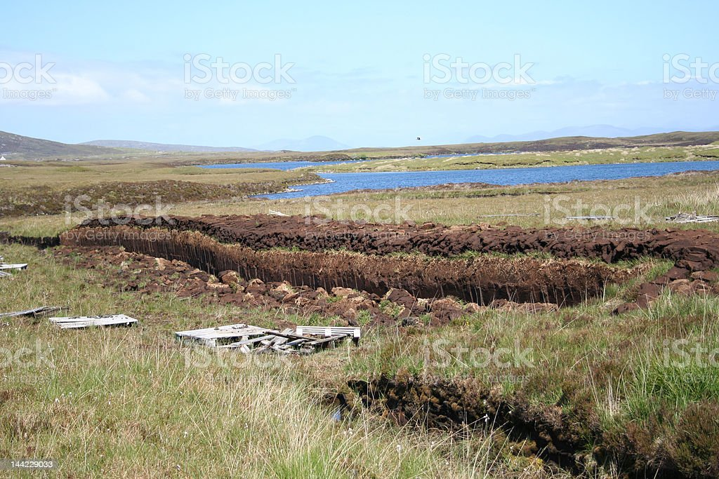 peat drying royalty-free stock photo