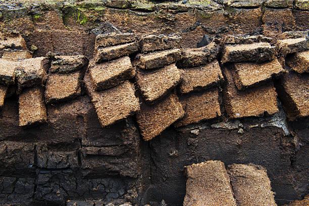 Peat excavation stock photo