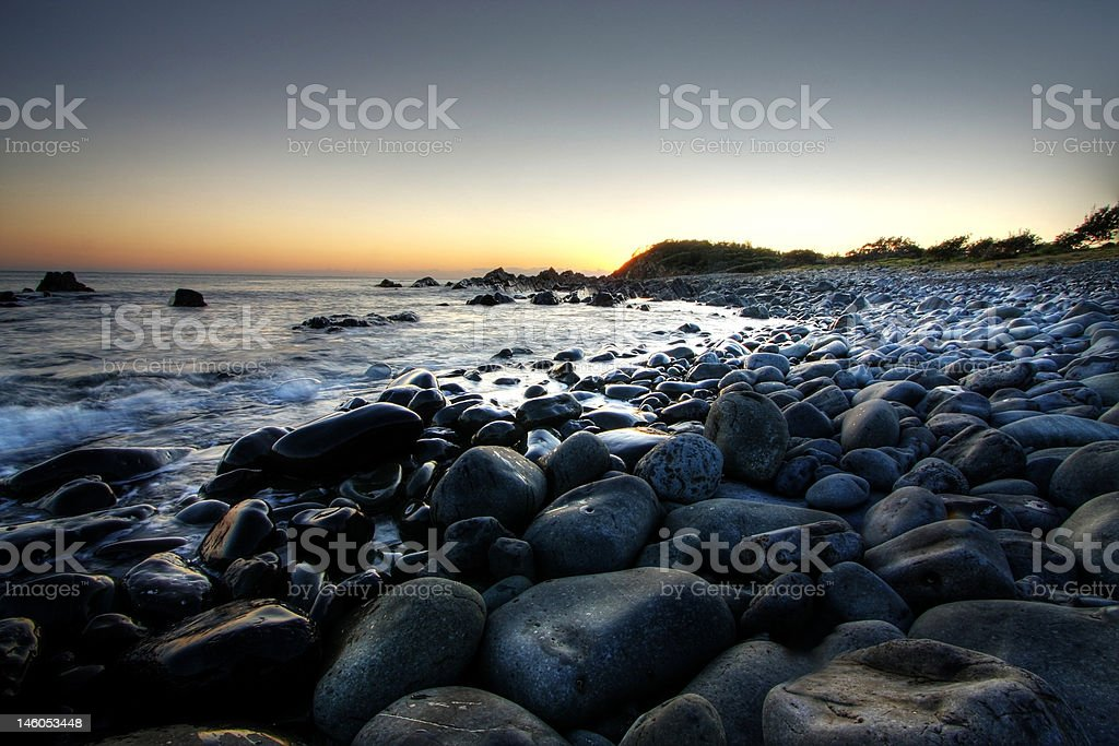 pebble beach royalty-free stock photo