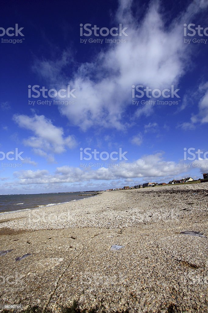 Pebble beach scene royalty-free stock photo