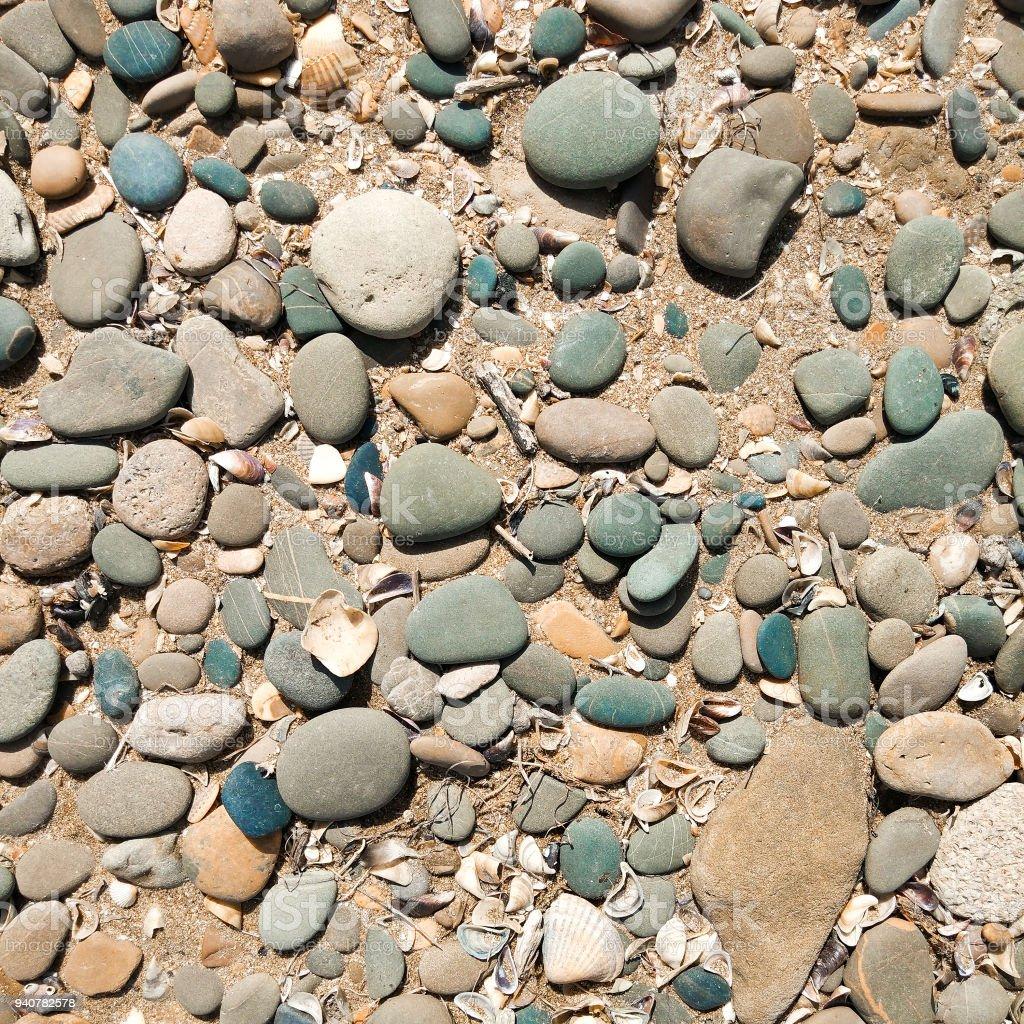 Pebble on beach, background stock photo