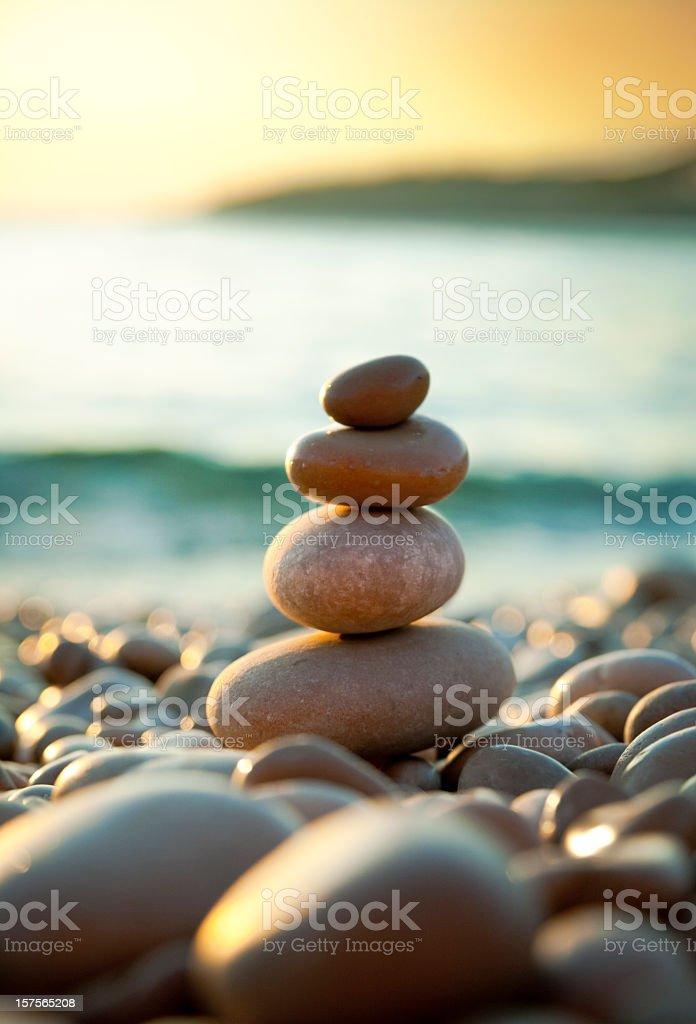 Pebble on beach royalty-free stock photo