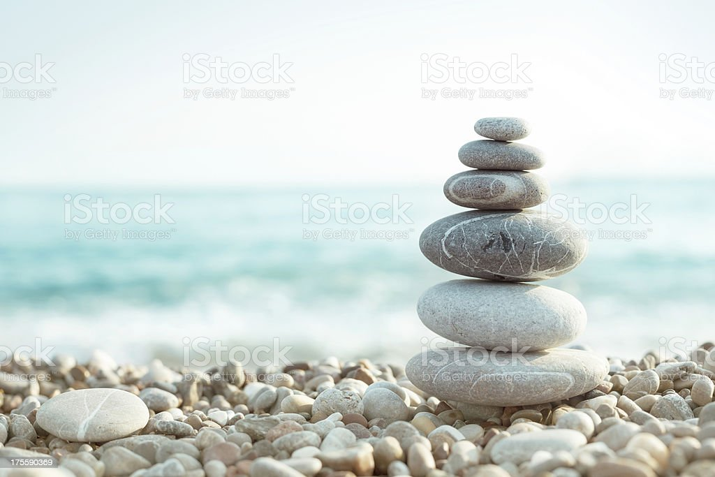 Pebble on beach stock photo
