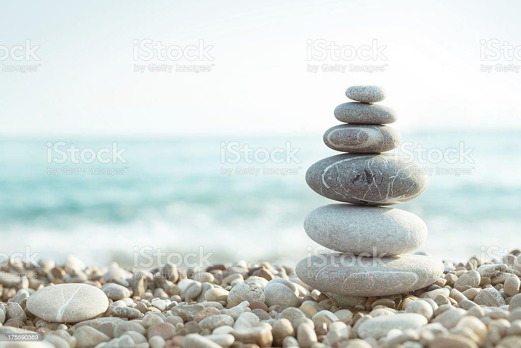 Pebble on beach bildbanksfoto