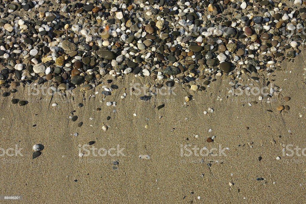 Pebble on Black Sea beach royalty free stockfoto