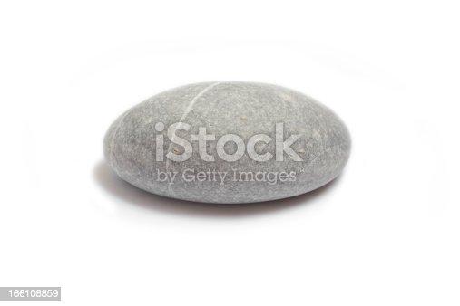 Sea stones, in studio, isolated on white background.