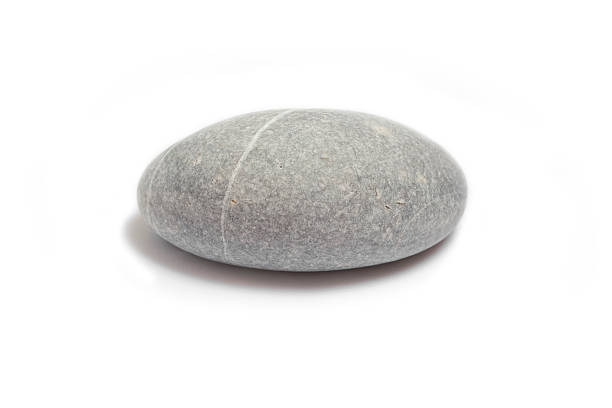 Pebble Pebble on white background stone object stock pictures, royalty-free photos & images