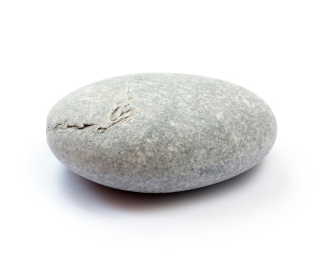 Pebble on white background