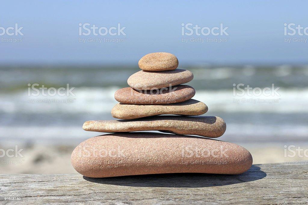 Pebble pyramid royalty-free stock photo