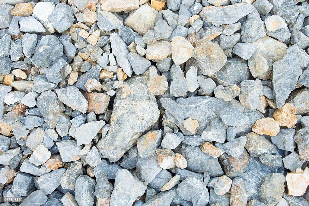 pebble, rock pile texture. background, road surface stock photo