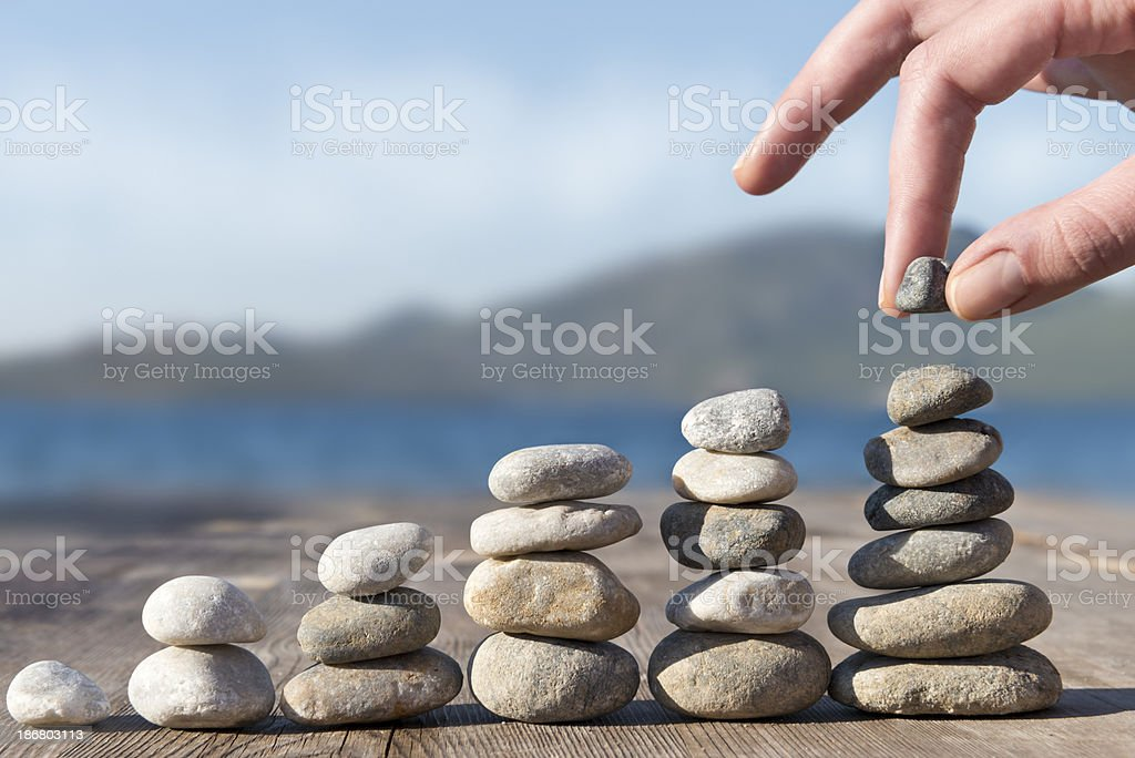 Pebble stack stock photo