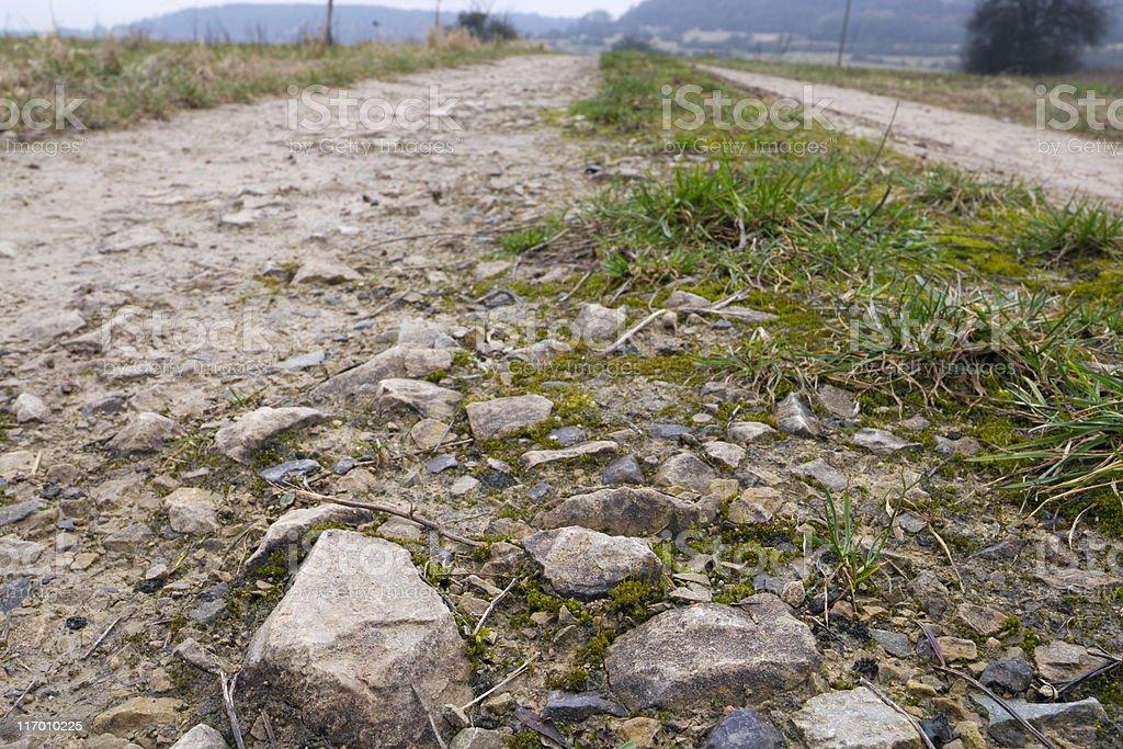 pebble stone road stock photo