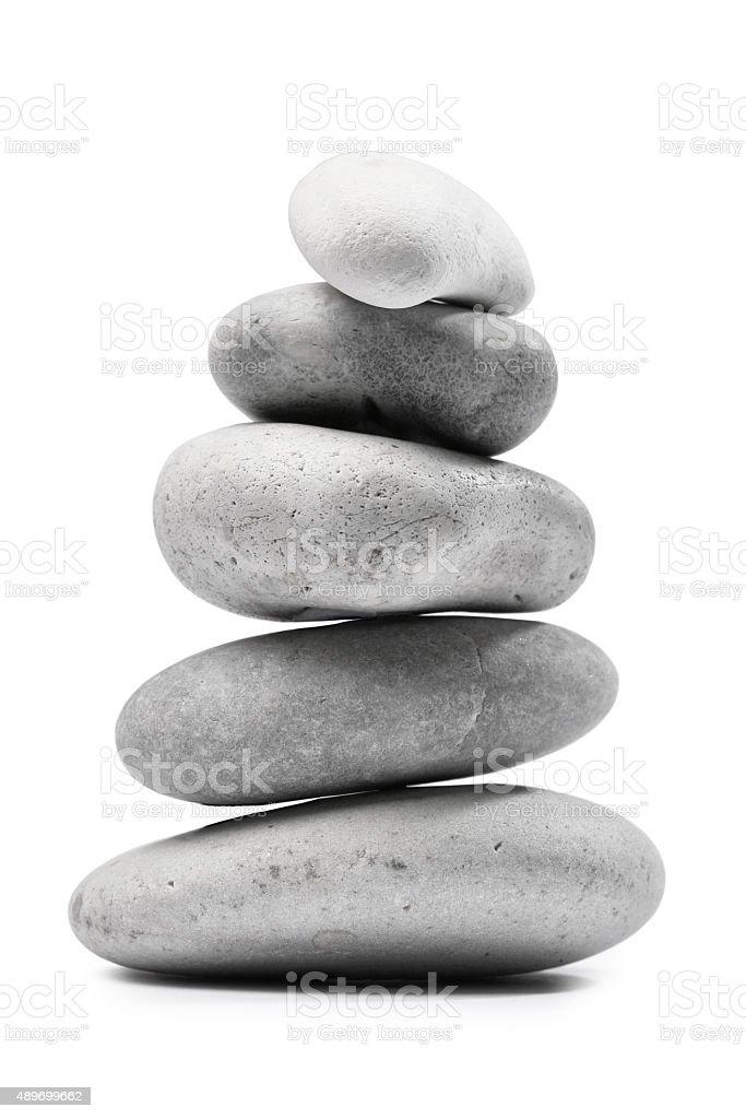 Pebble Stone Stack Pile stock photo