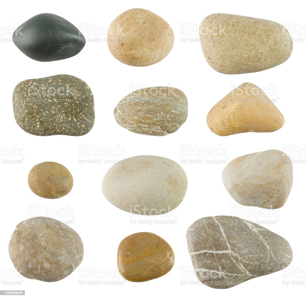 Pebble stones stock photo