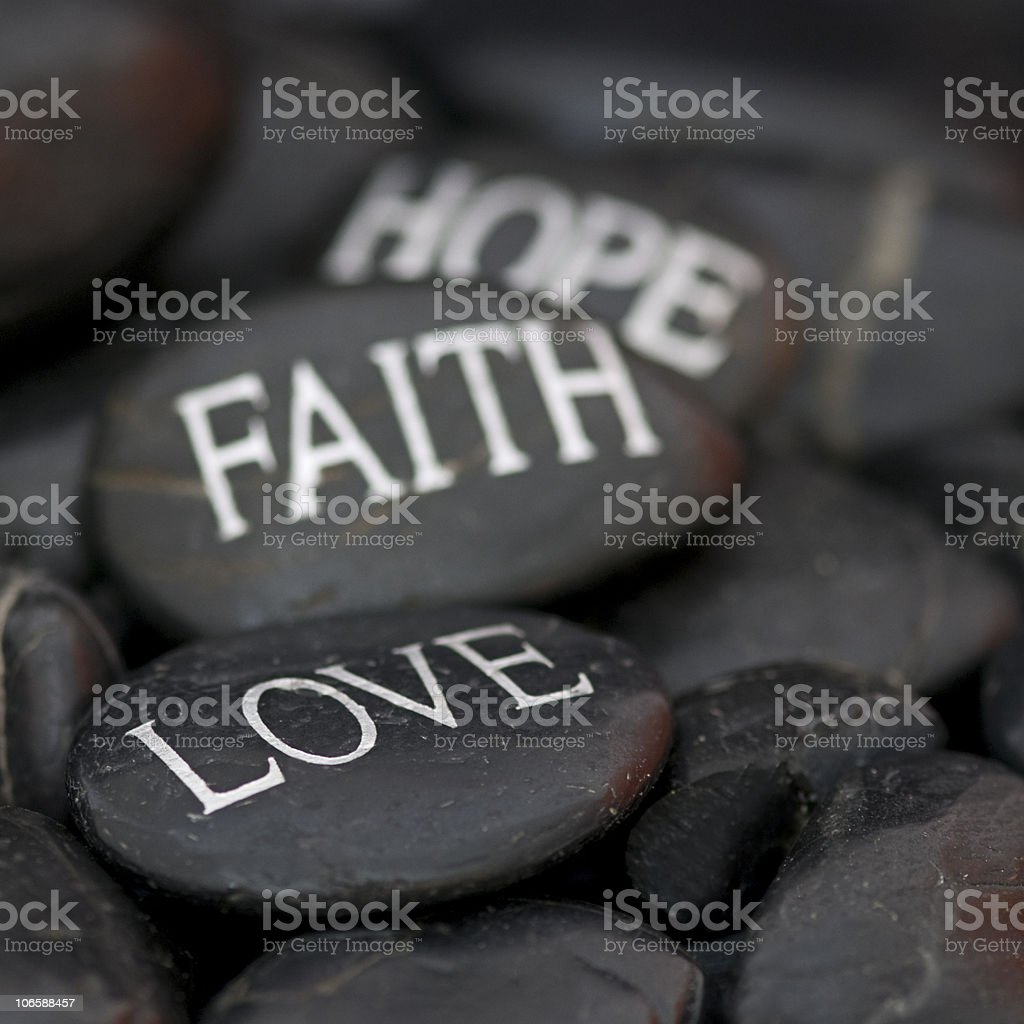 pebble with message royalty-free stock photo