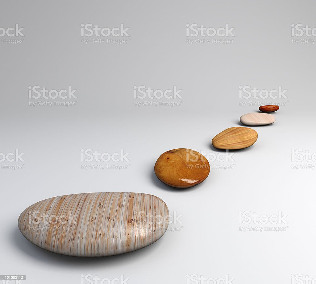 pebble wood path royalty-free stock photo
