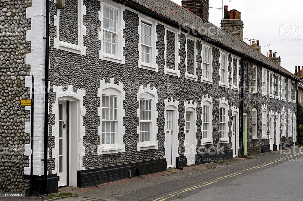 Pebbled cottages royalty-free stock photo