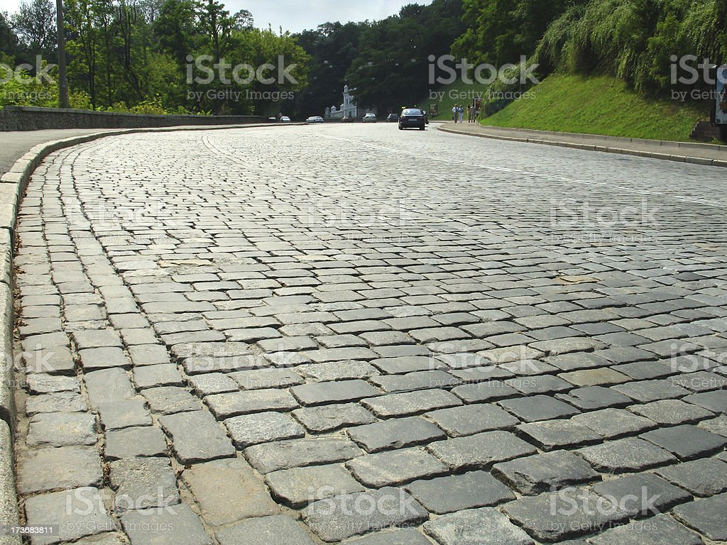 Pebble-road royalty-free stock photo