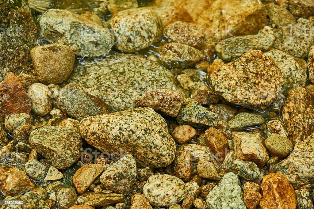pebbles along the riverside foto royalty-free