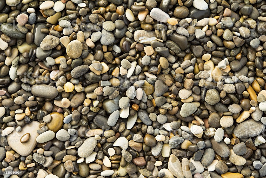 pebbles and stones, wet, texture, background royalty-free stock photo
