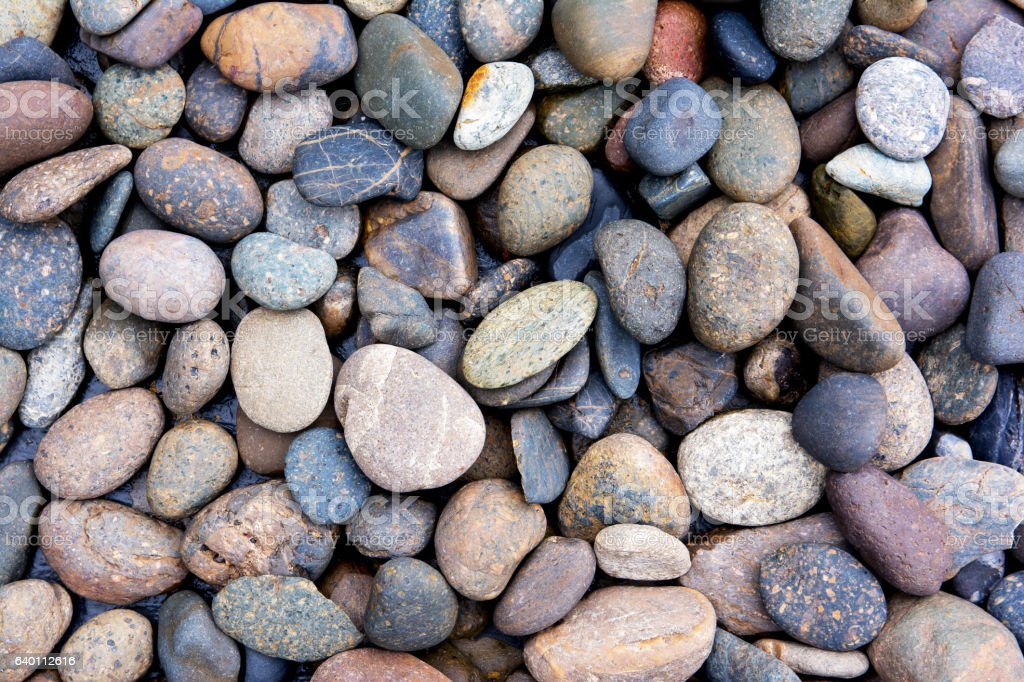 Pebbles background.Gravel background.Colorful pebbles background stock photo