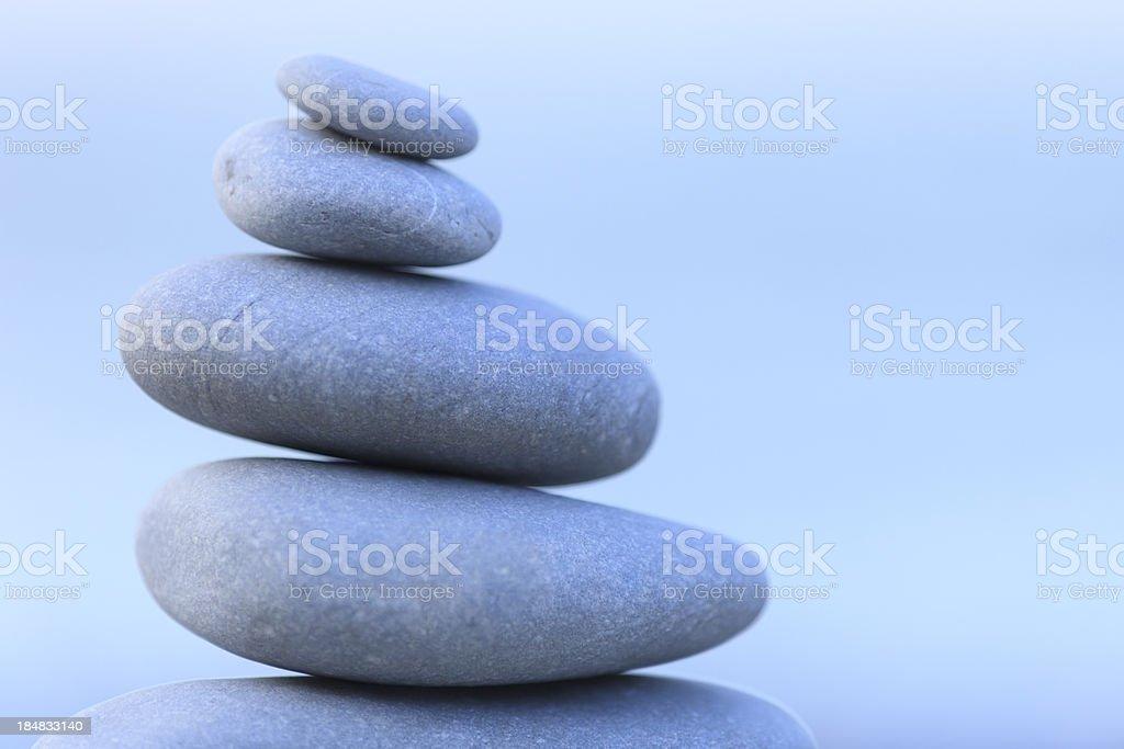 Pebbles, balance and Zen royalty-free stock photo